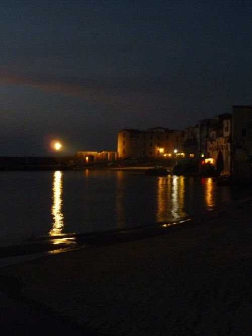 Dusk in the old town of Cefalu, a perfect end to a perfect day.