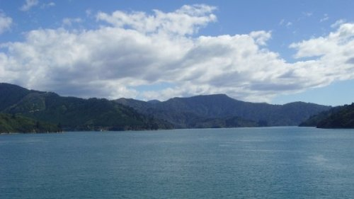 Entrance to the Queen Charlotte Sound aboard the Kaitaki