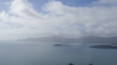 View overlooking Marlborough Sounds from Motuara Island