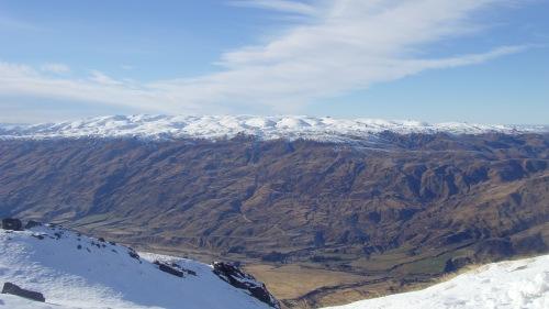 Scanning the Crown Range from Cardona Ski Resort